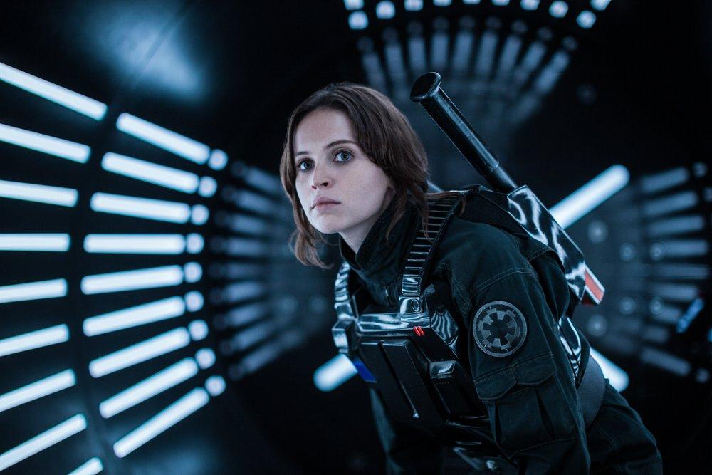 Felicity Jones portrays rebel Jyn Erso in Rogue One.