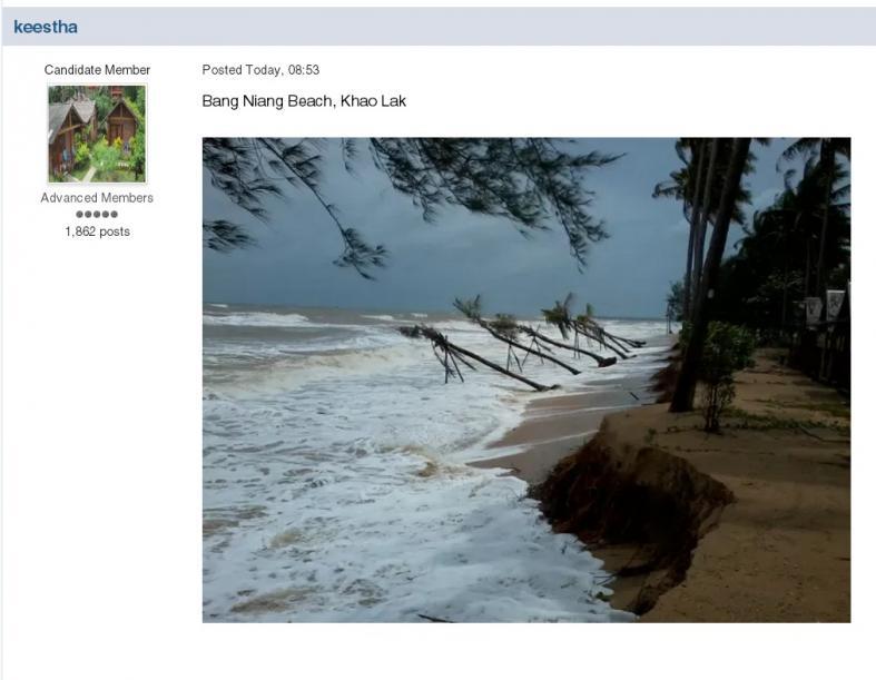 Thai Visa Forum user Keestha posted this photo of Bang Niang Beach, Khao Lak