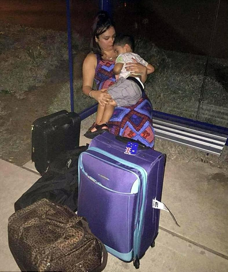 Pregnant woman spends night on streets after airline refuses