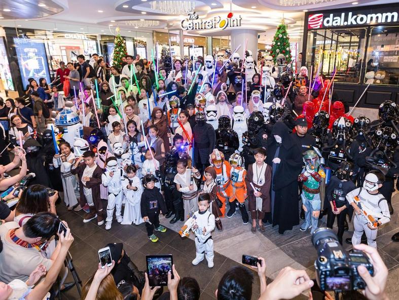 Christmas fun at the malls