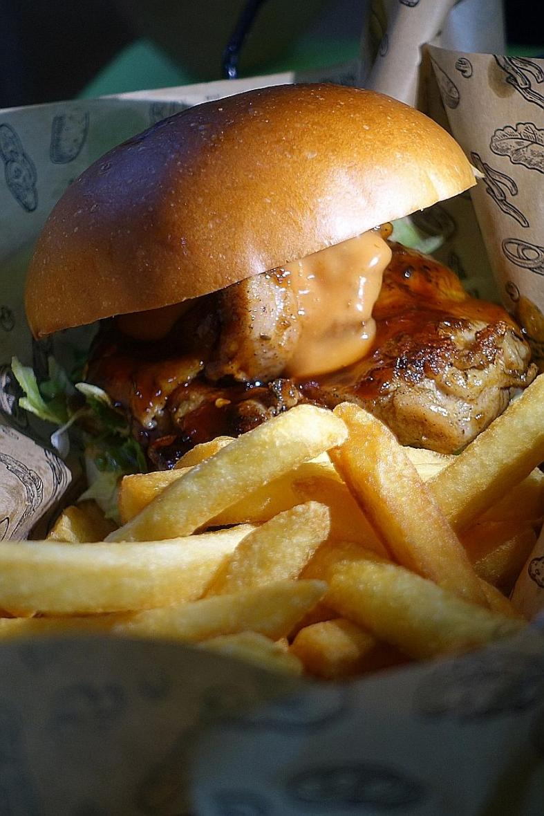 The slick hawker burger joint