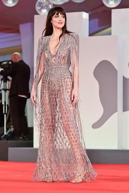 "Dakota Johnson arrives for the screening of the film ""The Lost Daughter"""