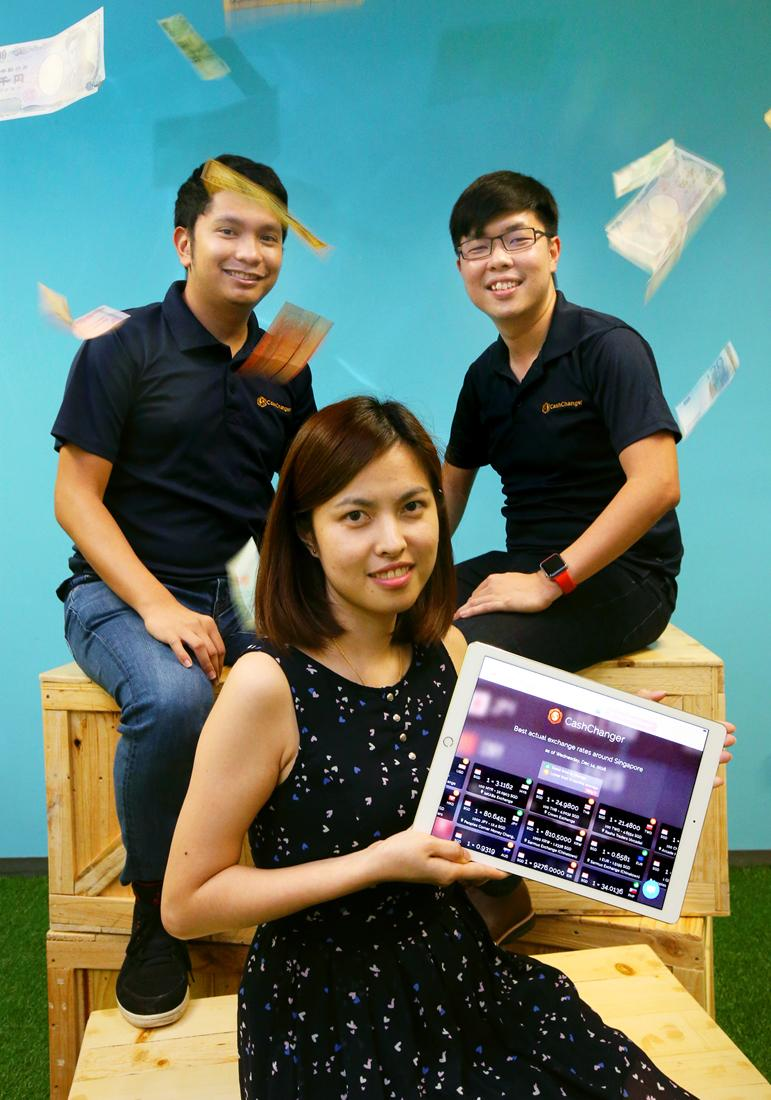 Mr Kenneth Ocastro, Miss Evelyn Lee and Mr Gary Goh created CashChanger