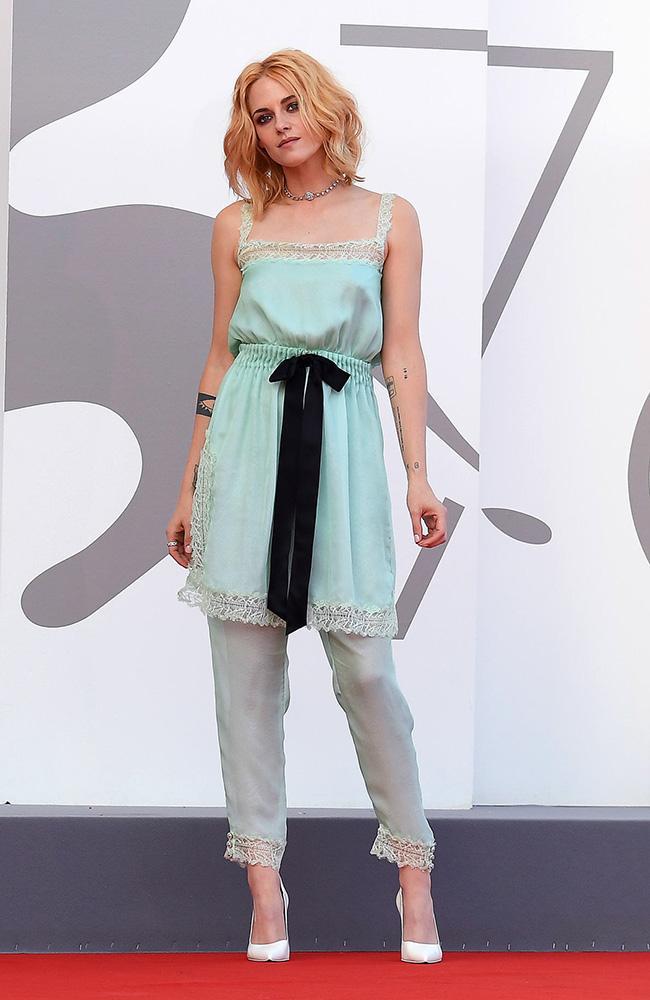 Kristen Stewart arrives for the premiere of 'Spencer'