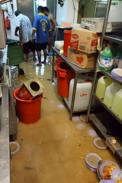 Flood damages goods and equipment