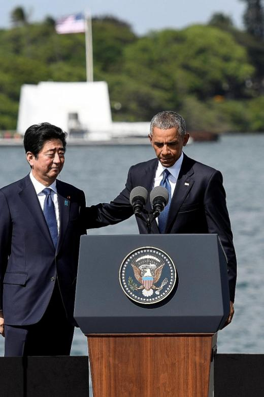 Japanese PM visits Pearl Harbor with Obama