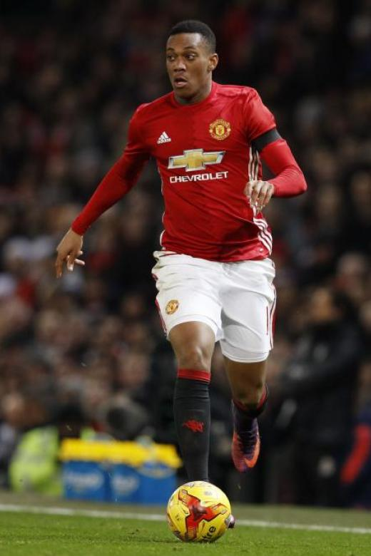 Anthony Martial (above) needs time to adapt to Manchester United's style of play, says manager Jose Mourinho.