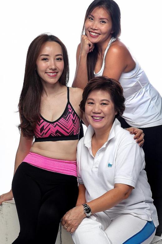 Yoga mum exercises flexibility in schedule
