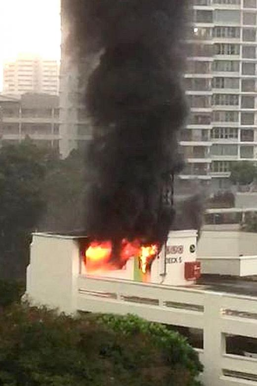 Bishan carpark fire involved discarded items at staircase landing