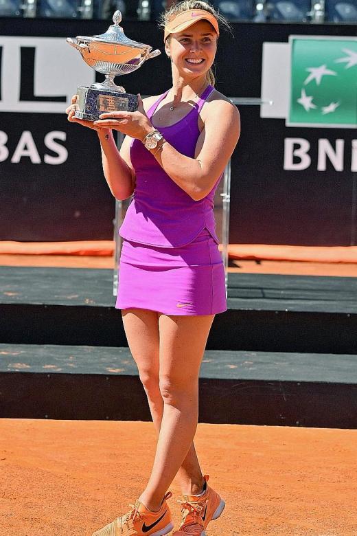 Slick Svitolina upsets hurt Halep to win Rome title