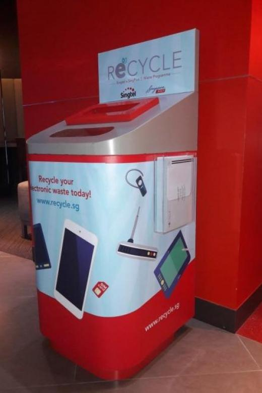 Recycle e-waste via mail or bins at post offices, Singtel outlets