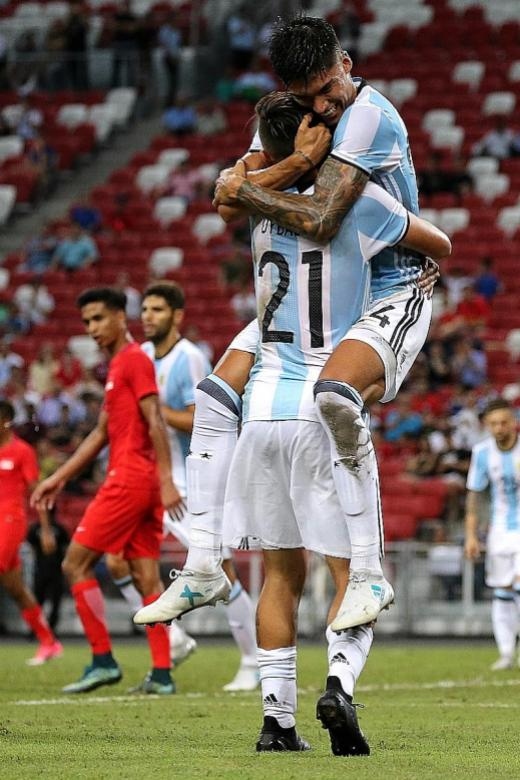 Argentina just too good for Singapore