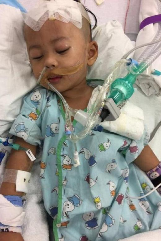 $85,000 raised for toddler with blood clot in brain