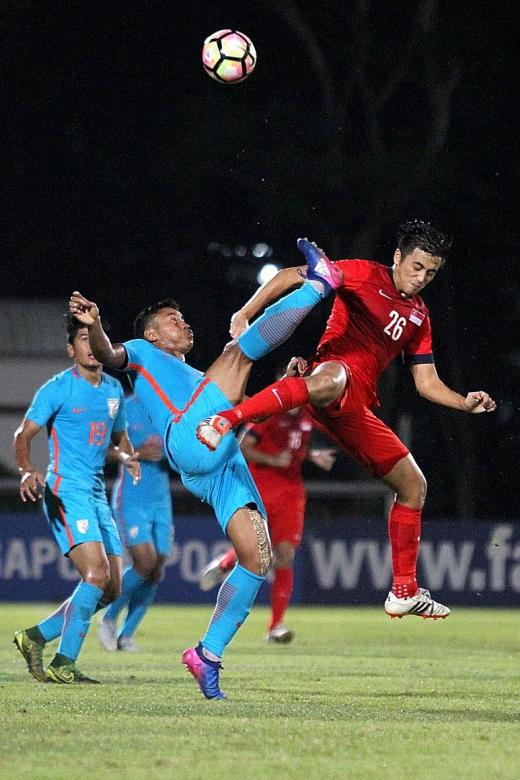 Singapore Under-23s halt worrying form with win over India