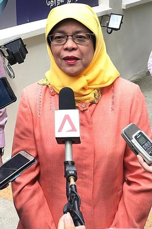 Halimah Yacob submits papers to run for president