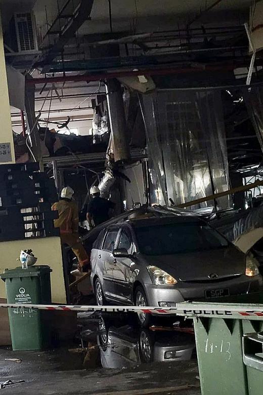 Five hurt in Bukit Batok industrial blast