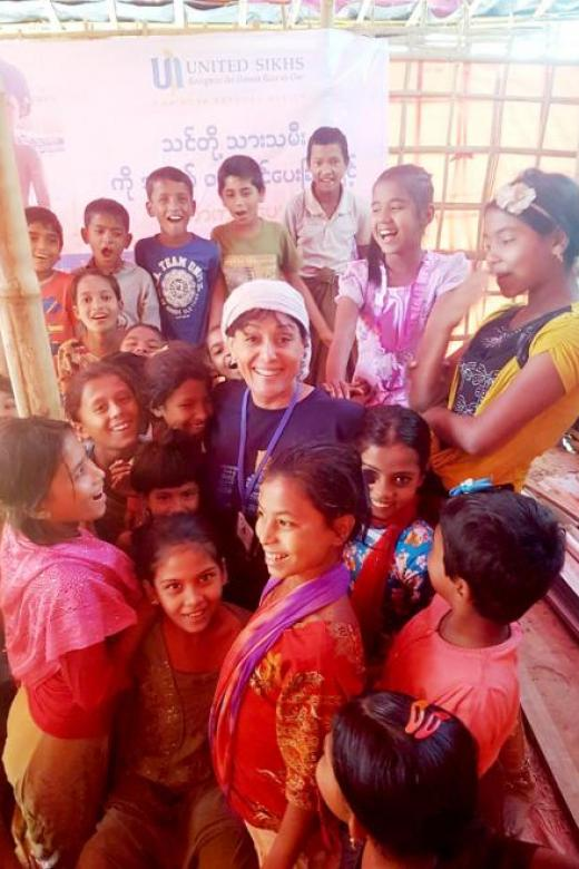 She cancels family trip to help Rohingya