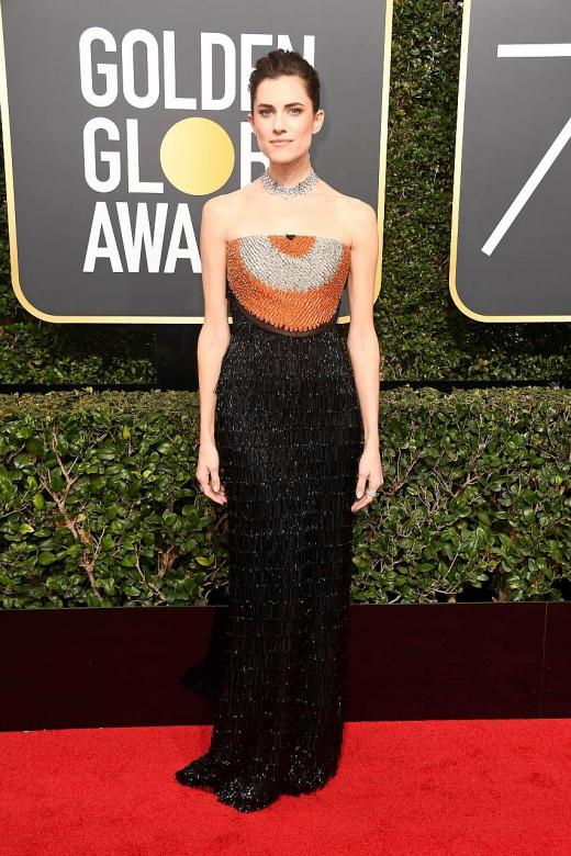 Black is far from basic at Golden Globes red carpet