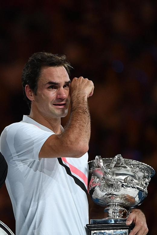 Tears flow, joy overflows for Federer