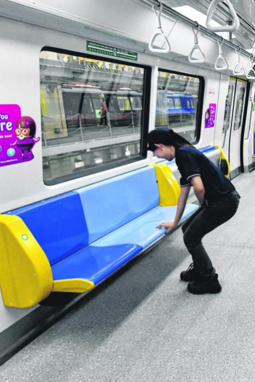 New trains for N-S, E-W lines to feature tip-up seats
