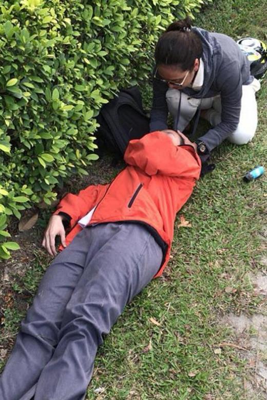 ITE nursing student aids accident victim on expressway