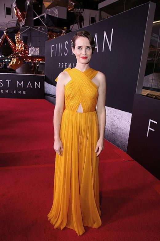 Claire Foy rockets to the top of the pile in not-so-mellow yellow