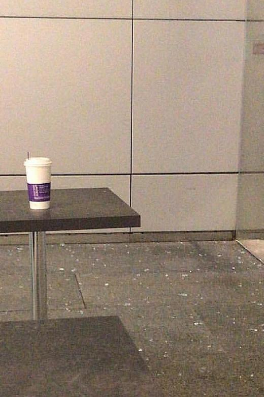 Glass panel breaks in Orchard Central, scaring patrons