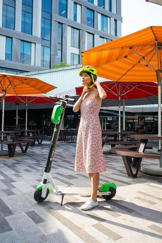 US company Lime offers shared e-scooters in Science Park