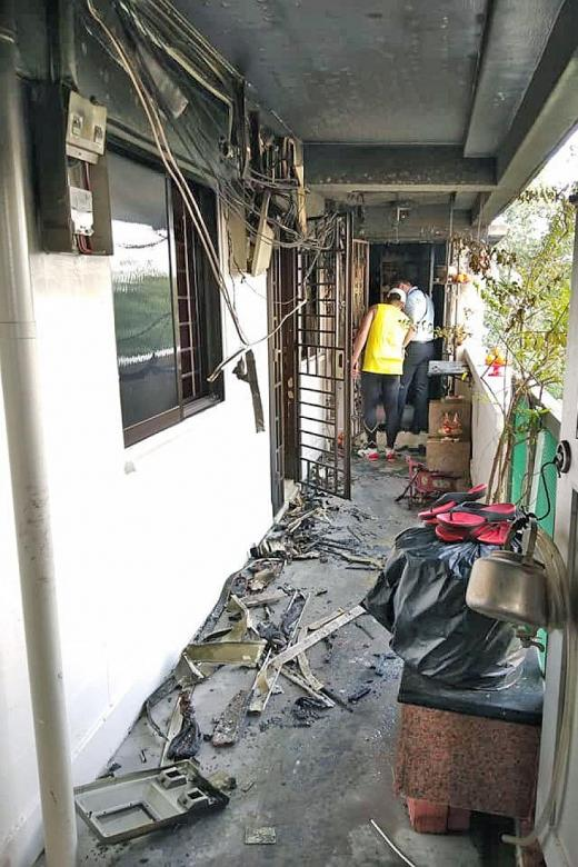 Residents fight Toa Payoh fire with bottles, pails of water