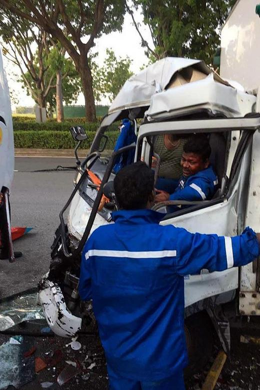 24 people hurt in Jurong  Island Highway collision