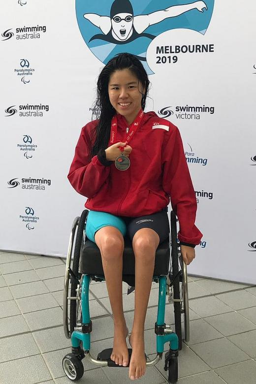 Yip wins a silver in World Para Swimming World Series