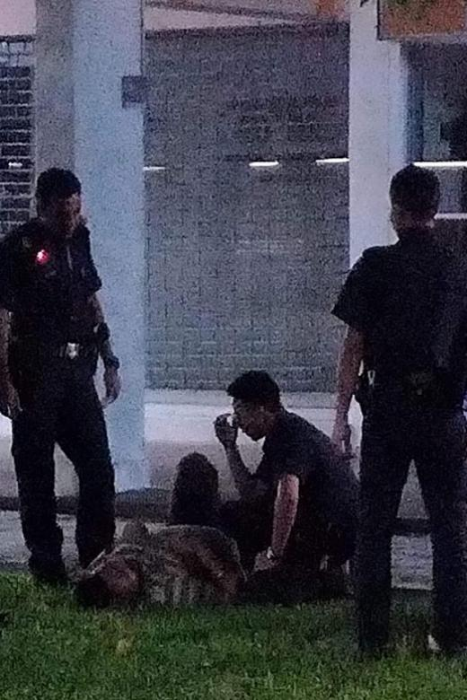 Man fractures leg jumping from second-storey flat