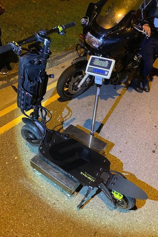 E-scooter shop owner charged for riding 48kg PMD on road