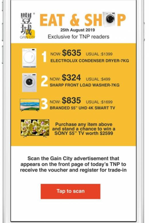 Stand to win a Sony TV at Gain City's Eat & Shop Sunday