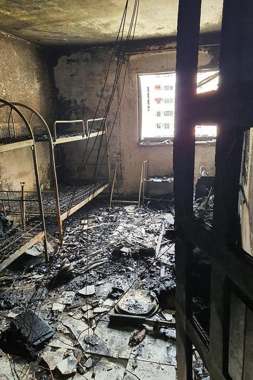 Infant taken to hospital for smoke inhalation after PMD fire