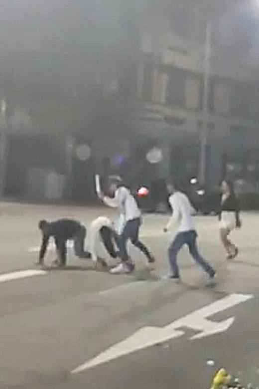 Police investigating incidents of violent man, brawl on road