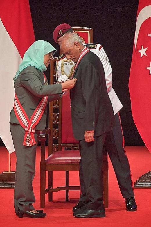 Veteran civil servant awarded highest civilian honour in Singapore