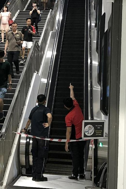 Senior shoppers hurt after fall on escalator in Northpoint City mall