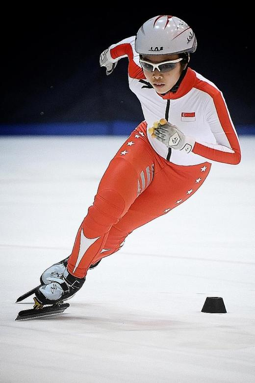 Speed skater Alyssa Pok goes the extra mile by training in South Korea