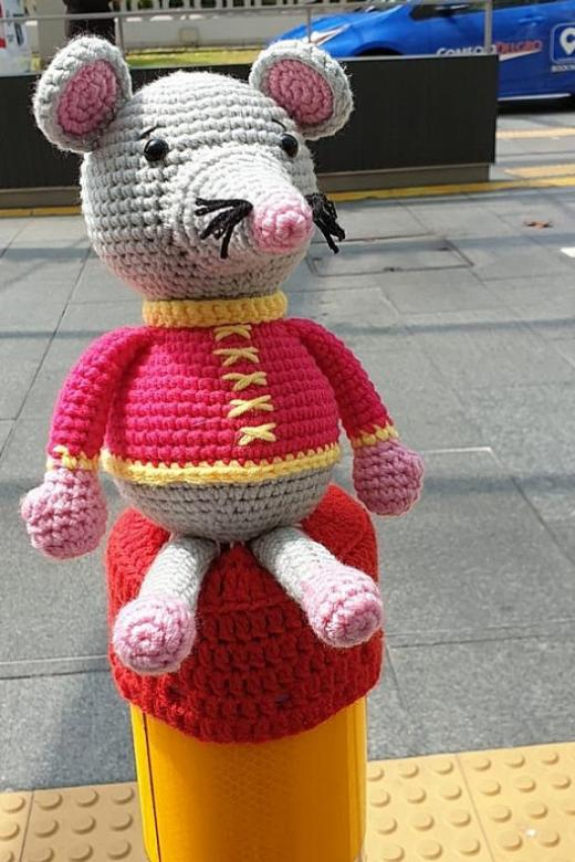 CNY yarn toppers stolen at Fusionopolis 1