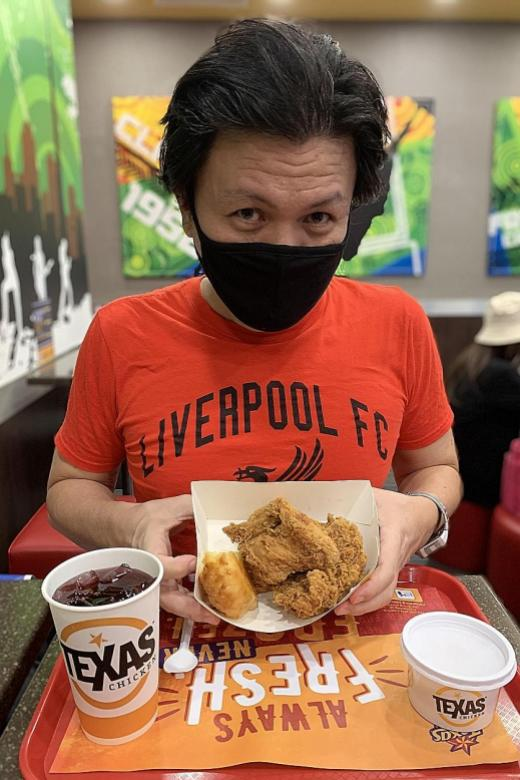 I got free fried chicken meal by pretending to be a Liverpool fan