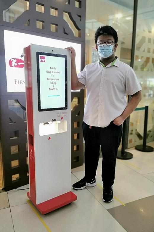 Electronics Engineering student designs self-help kiosk for Covid-19