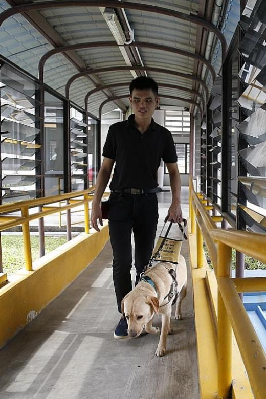 Singaporeans step forward to help the blind adapt to new normal