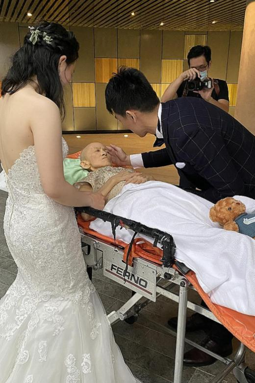 Terminally-ill woman gets to see son wed, thanks to help from charity