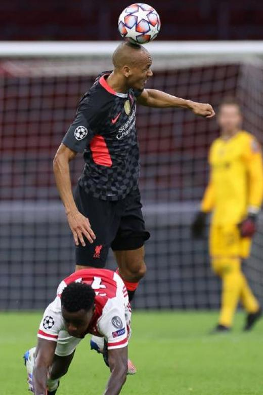 Liverpool's Fabinho won 80 per cent of his duels with Ajax Amsterdam