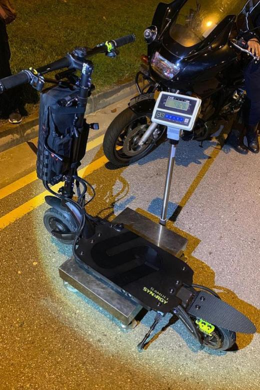 E-scooter shop owner jailed for riding PMD at 135kmh on road