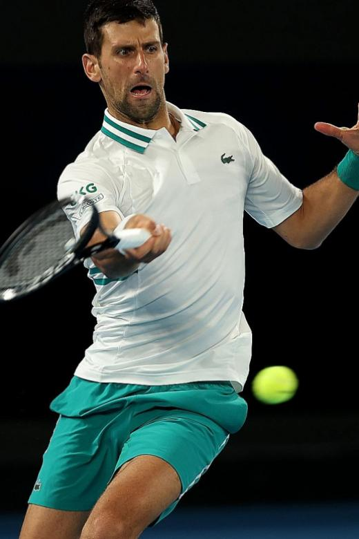Injured Novak Djokovic sees off Milos Raonic for 300th Slam win