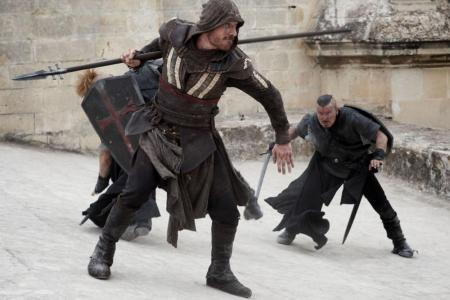 Assassin's Creed, starring Michael Fassbender.