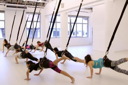 Flying high with the Bungee Workout