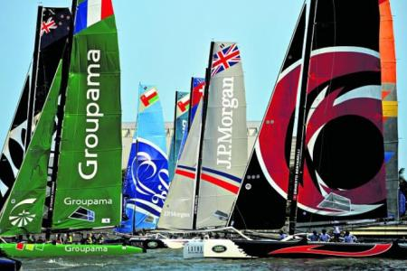 The Singapore leg of the Extreme Sailing Series (ESS) kicked off at The Promontory @ Marina Bay on 20 February 2014